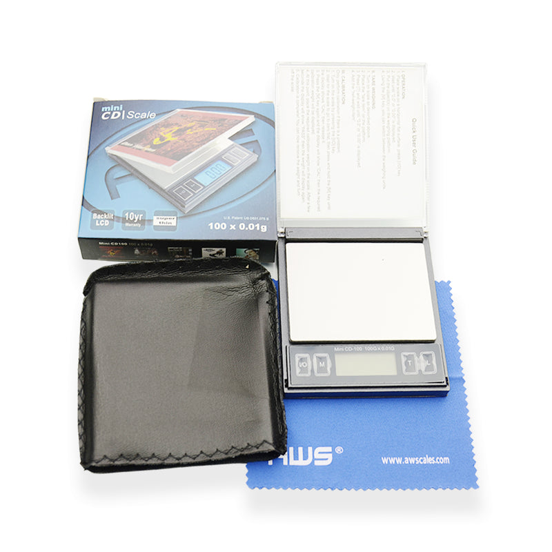 AWS Digital Pocket Scale Mini CD Scale 100 x 0.01g