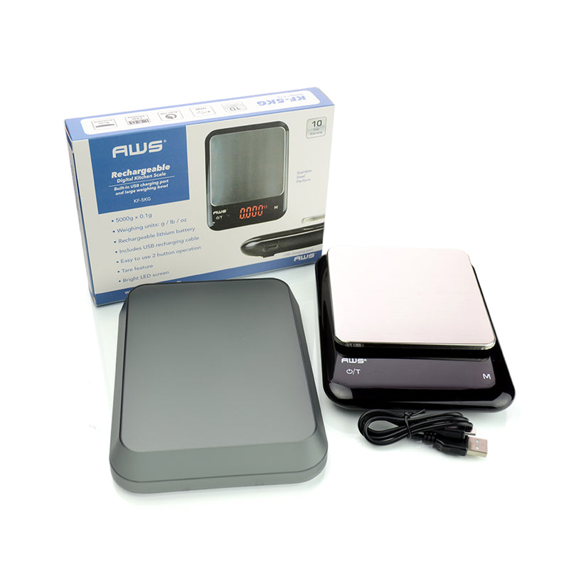 AWS Rechargeable Digital Scale 5000g x 0.1g