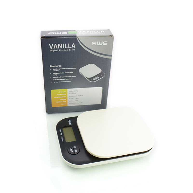 Vanilla Digital Kitchen Scale 11 lb x 0.1oz