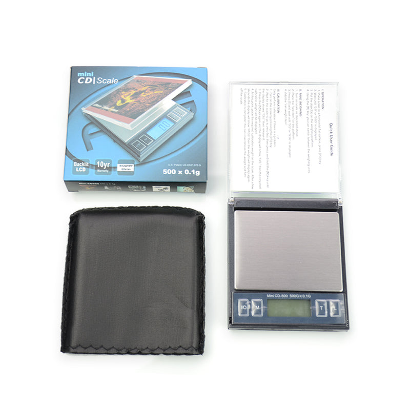 Mini CD Scale 500 x 0.1g Backlit LCD