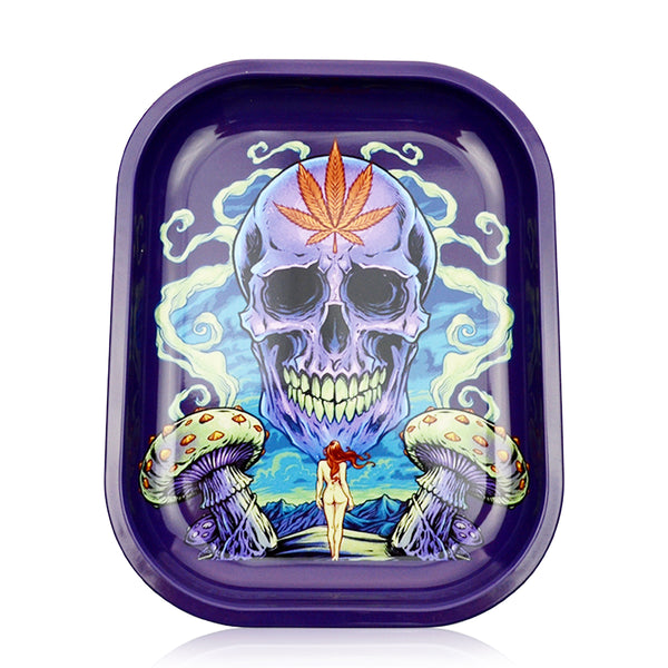 Rolling Tray Skull and Naked Lady Art