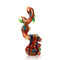 "8"" Dragon Bubbler with Horns Marble Color Design APROX 300 Grams"