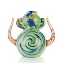 "8"" Big Boss Hammer Bubbler with Horns Marble Color Design APROX 385 Grams"
