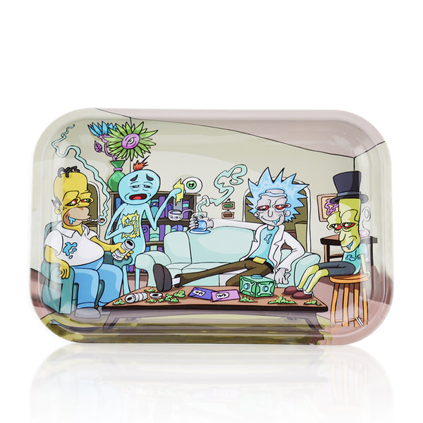 Metal Rolling Tray Medium Rick Smoking