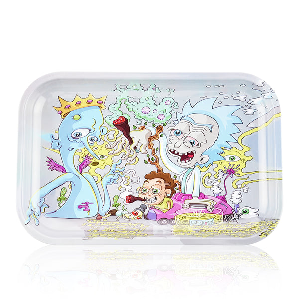 Metal Rolling Tray Medium Ricky Smoking