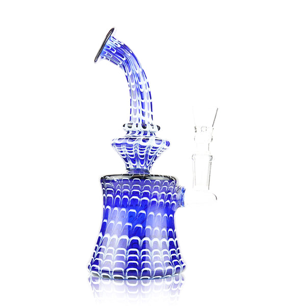 "8"" Conical Color Tube Bong with Fancy Lining 14mm Male Bowl Included"