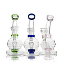 "6"" Mini Portable Bong with 14mm Glass Bowl for Dry Herb"
