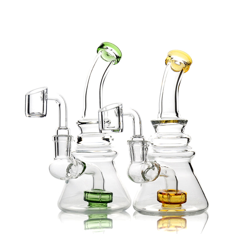 "6"" Mini Portable Rig with 14mm Quartz Banger for Dabbing"