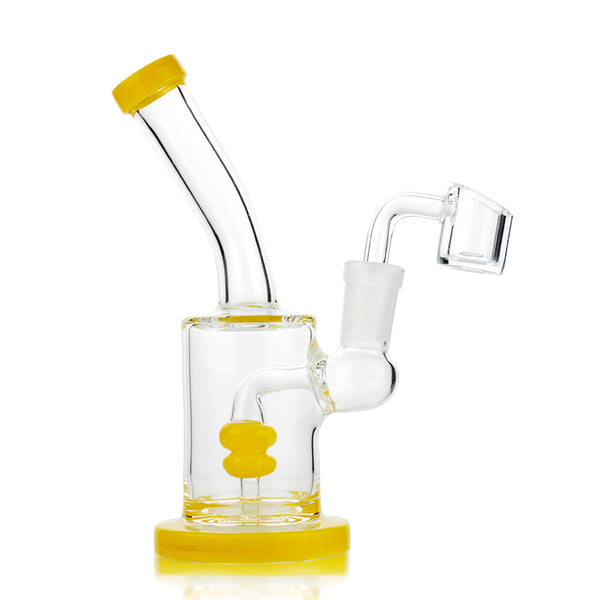 "6"" Mini Portable Rig in Marble Color with 14mm Quartz Banger for Dabbing"