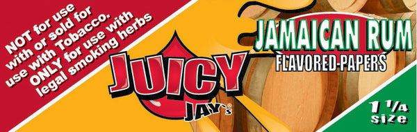 "Juicy Jay's 1 1/4"" Size Rolling Paper JAMAICAN RUM"