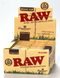 Raw Organic King Slim With Tips Rolling Paper 24 packs