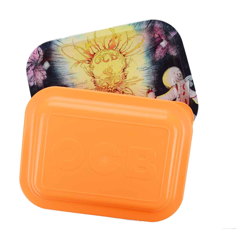 OCB Designed Rolling Tray Paris Art with Plastic Lid