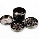 62MM Silver Grinder Four Part with Side Bucket