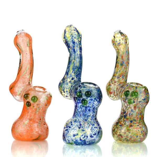 "7"" Colorful Frit Bubbler Approx 230 Grams"