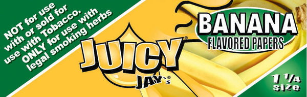 "Juicy Jay's 1 1/4"" Size Rolling Paper BANANA"