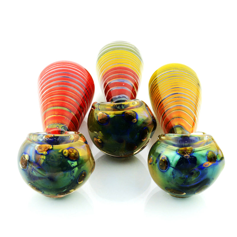 "4"" Hand Pipe Double Glass Swirl Design 125 Grams"