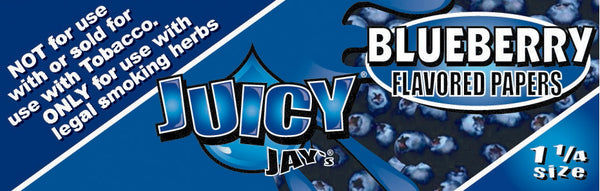 "Juicy Jay's 1 1/4"" Size Rolling Paper BLUEBERRY"