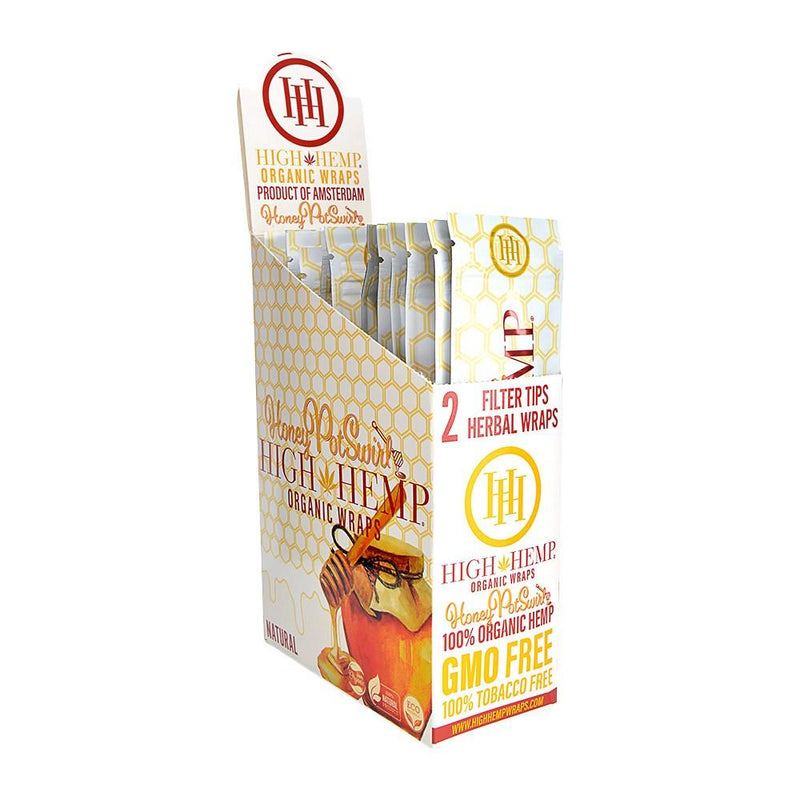 High Hemp Honey Pot Swirl Organic Wrap 2 wraps per pack. 25 packs per box.