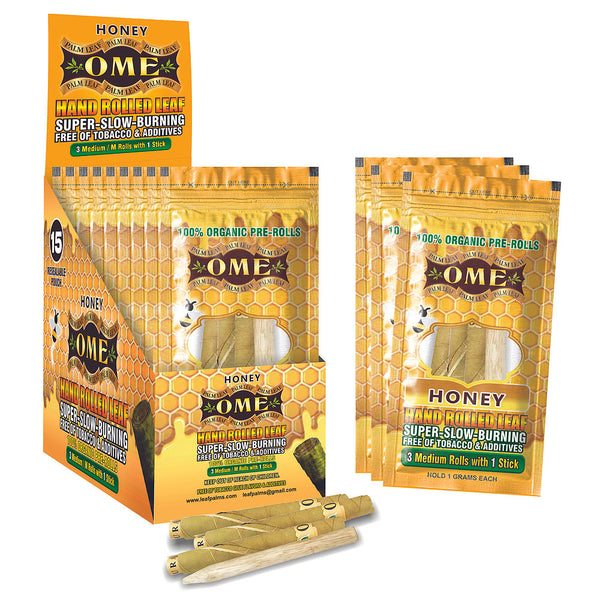 Organic Palm Leaf Wraps Honey Flavor 15 Pack in Box
