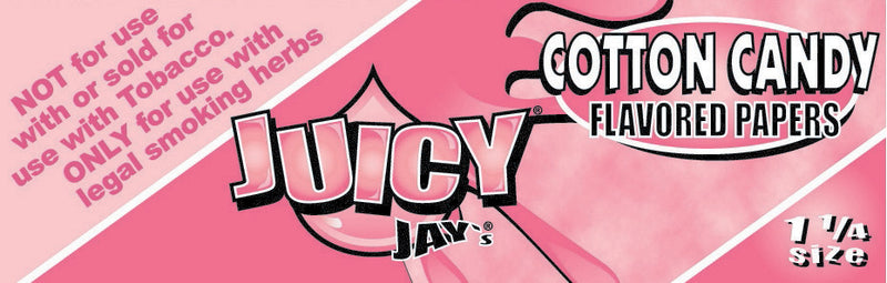 "Juicy Jay's 1 1/4"" Size Rolling Paper COTTON CANDY"