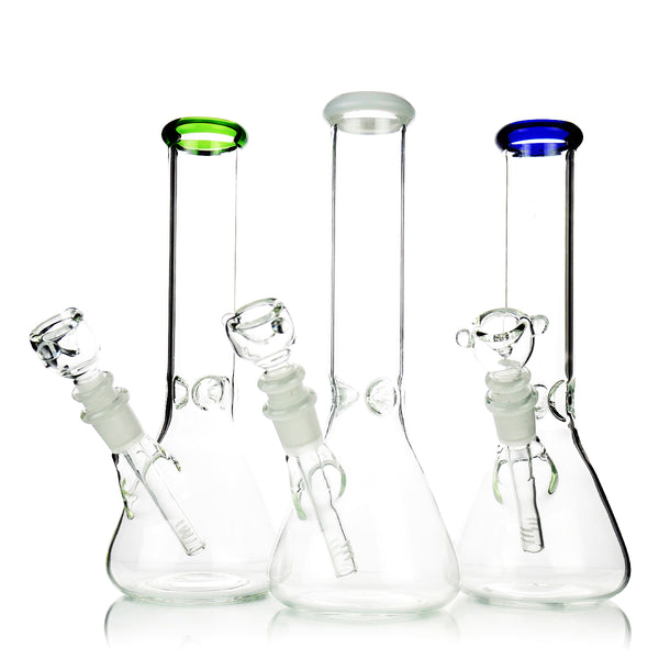 "10"" Color Mouth Beaker Downstem and 14mm Bowl"
