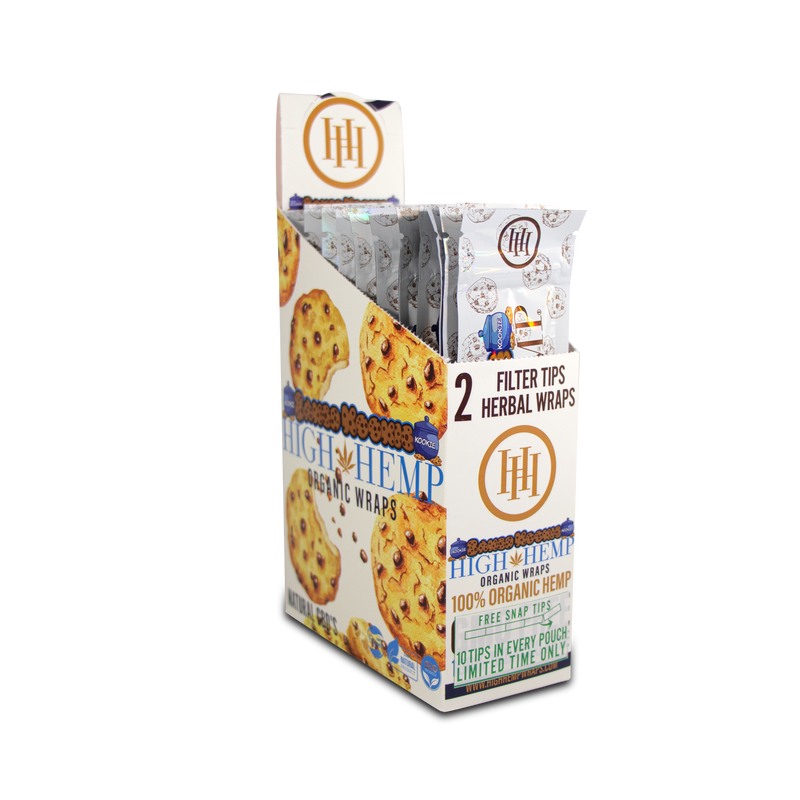 High Hemp Baked Kookie Organic Wrap 2 wraps per pack. 25 packs per box.