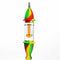 "8"" Silicone Nectar Collector Colorful design with Glass Tree Perc and Titanium Nail"