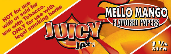 "Juicy Jay's 1 1/4"" Size Rolling Paper MELLO MANGO"