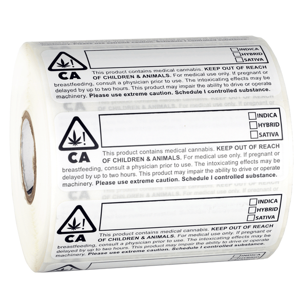 CA Labels Large Roll of 1000 MMJ