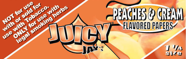 "Juicy Jay's 1 1/4"" Size Rolling Paper PEACHES & CREAM"