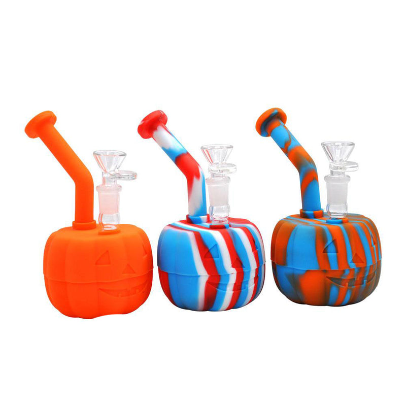 PUMPKIN SILICONE WATER PIPE