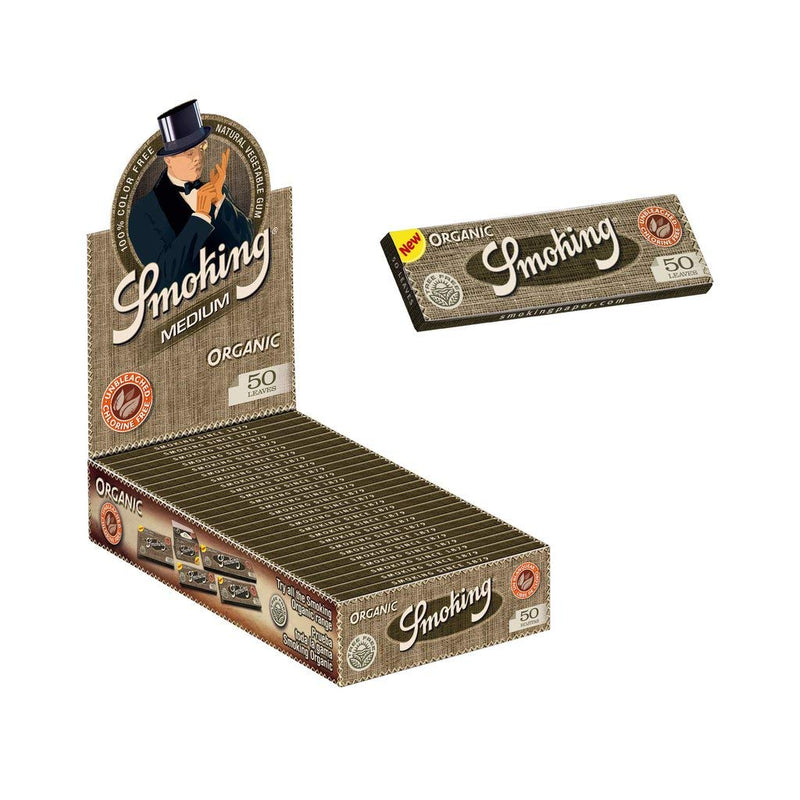 SMOKING MEDIUM ORGANIC ROLLING PAPER 50 LEAVES