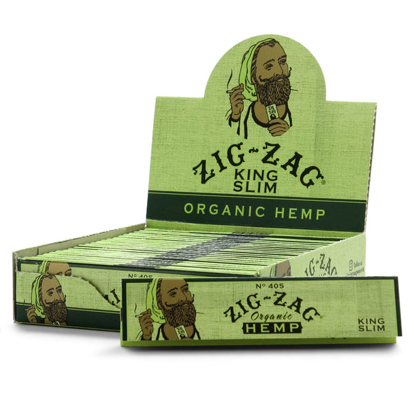 ZIG-ZAG KING SLIM ORGANIC 24 BOOKLETS
