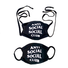 Load image into Gallery viewer, ASSC Anti Social Social Club Unisex Reusable Face Mask
