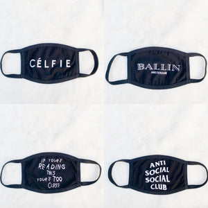ASSC Anti Social Social Club Reversible Unisex Face Mask