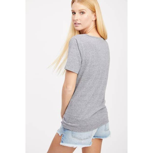 Waterford V-Neck Tee - Heather Grey