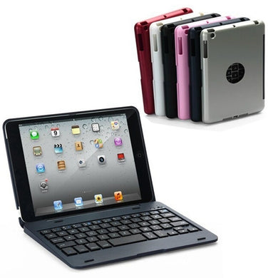 2 In 1 bluetooth Keyboard Foldable Kickstand Case For iPad Mini 1 2 3 - Buzztech Electronics and Gadgets
