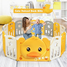 Load image into Gallery viewer, 16-Panel Foldable Baby Playpen with Sound