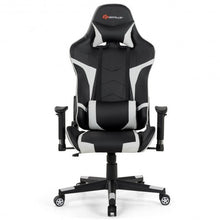 Load image into Gallery viewer, Reclining Swive Massage Gaming Chair-White - Color: White