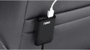 NAXA Electronics Front and Back Seat Car Charger in Black