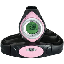 Load image into Gallery viewer, Pyle Pro PHRM38PN Heart Rate Monitor Watch with Minimum, Average & Maximum Heart Rate (Pink)