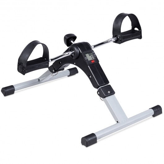 Folding Under Desk Indoor Pedal Exercise Bike for Arms Legs