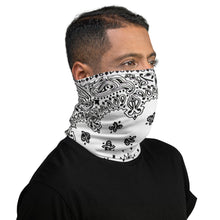 Load image into Gallery viewer, Classic White Bandanna Neck Gaiter