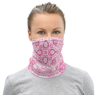 Classic Style Pink Bandanna Neck Gaiter