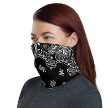 Load image into Gallery viewer, Classic Style Black Bandanna Neck Gaiter