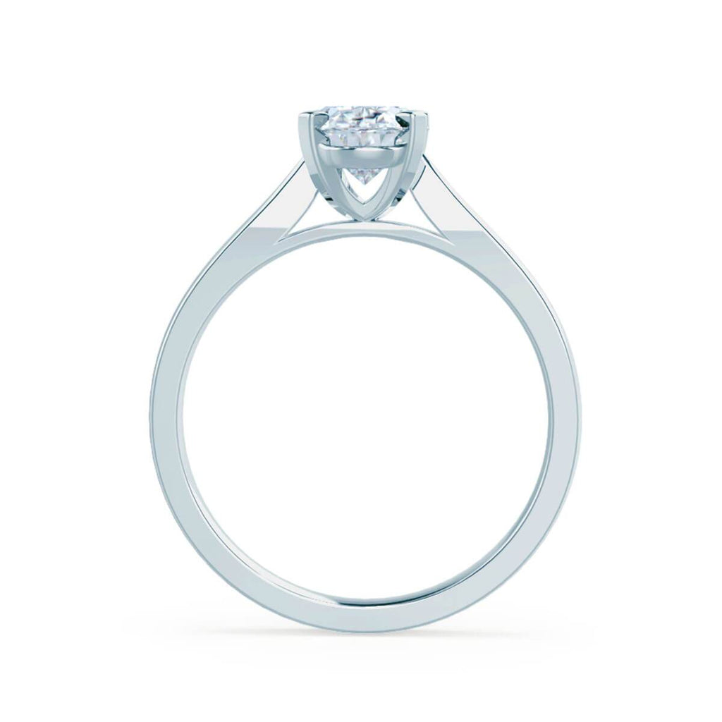 Moissanite365 Engagement Ring Oval Cut 4 Claw Moissanite Solitaire Engagement Ring