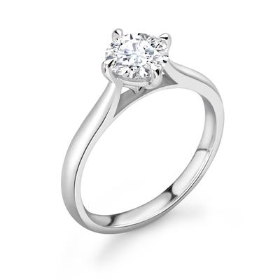 Moissanite365 Engagement Ring Round Cut 4 Claw Compass Moissanite Solitaire Engagement Ring