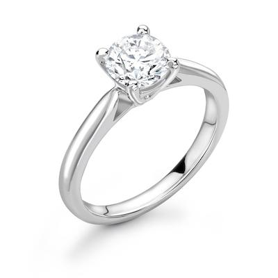 Moissanite365 Engagement Ring Round Cut 4 Claw Moissanite Basket Solitaire Engagement Ring
