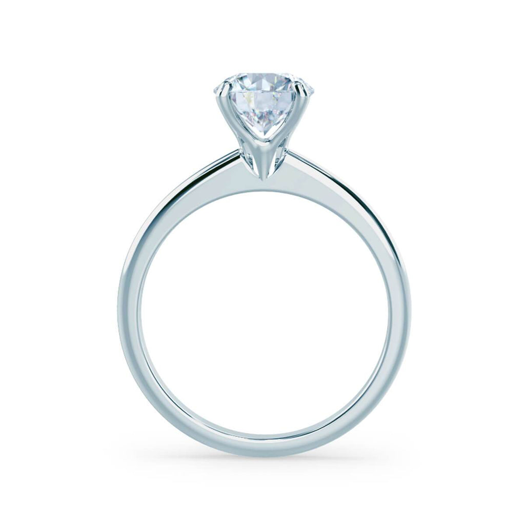Moissanite365 Engagement Ring Round Cut 4 Claw Moissanite Solitaire Engagement Ring