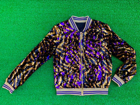 """GLEAUX GIRL"" Limited Edition Tiger Stripe Sequin Jacket"
